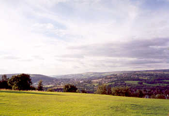 The town of Bingley, as viewed from Moorhead in Bradford, West Yorkshire