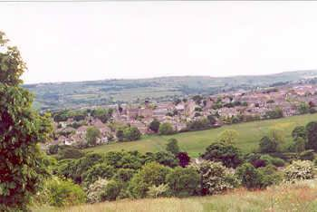 Allerton village as viewed from Daisy Hill, above Chellow Dene, Bradford, West Yorkshire