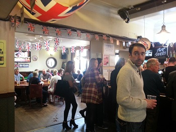 Pub scene at the Brighouse 1940s Weekend