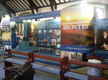 Bronte exhibition in Thornton church