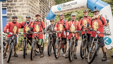 Participants in the Bronte Mountain Bike challenge in 2018