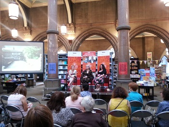 Talk about the Brontes at Ponden Hall at the Bradford Literature Festival in 2018