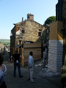 Haworth 1840s film set