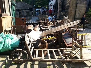 Haworth 1840s film set props