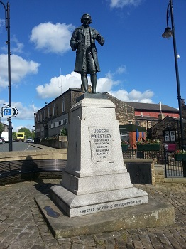 Statue of Joseph Priestley at Birstall