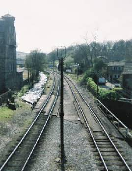 Railway line at Haworth - on the Keighley and Worth Valley line