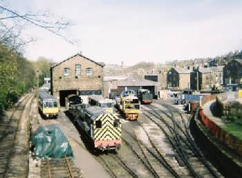 Goods yard at Haworth - on the Keighley and Worth Valley Railway