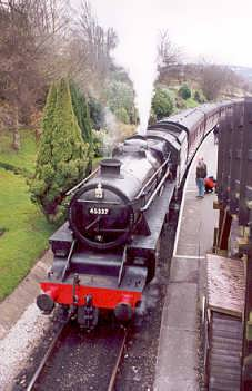 Keighley and Worth Valley Railway at Haworth, West Yorkshire