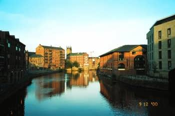 The River Aire in Leeds
