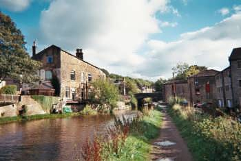 The Rochdale Canal at Luddenden Foot