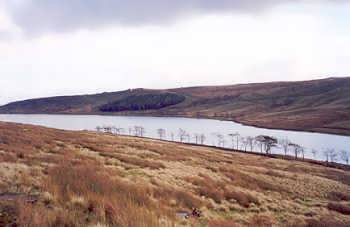 Widdop Reservoir, viewed from the Colne to Hebden Bridge road