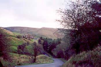 Pendle Witch Country - a deep valley on the Colne to Hebden Bridge road