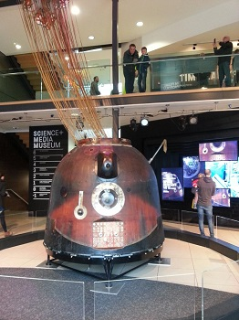 Soyuz capsule in the foyer of the National Science and Media Museum in Bradford