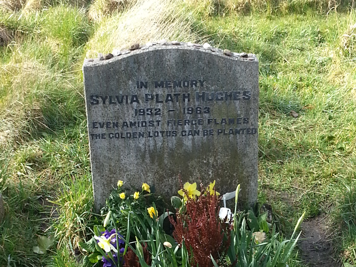 Sylvia Plath's grave, Heptonstall