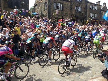 The Tour de France in Haworth