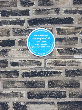 Ted Hughes Birthplace plaque, Mytholmroyd