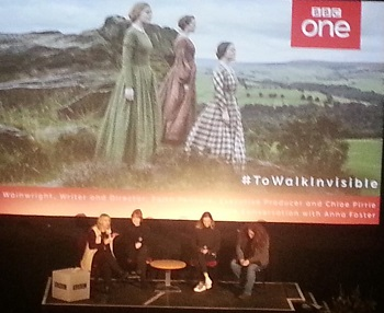 Panel session with Sally Wainwright at the preview of To Walk Invisible