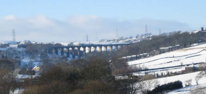 Thornton Viaduct in winter